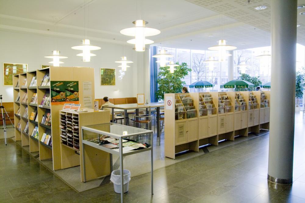 Magazine and newspaper room at Kokkola