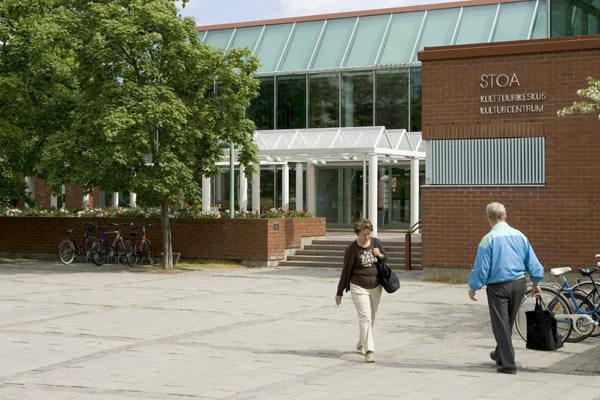 Itäkeskuksen kirjasto kesällä 2009