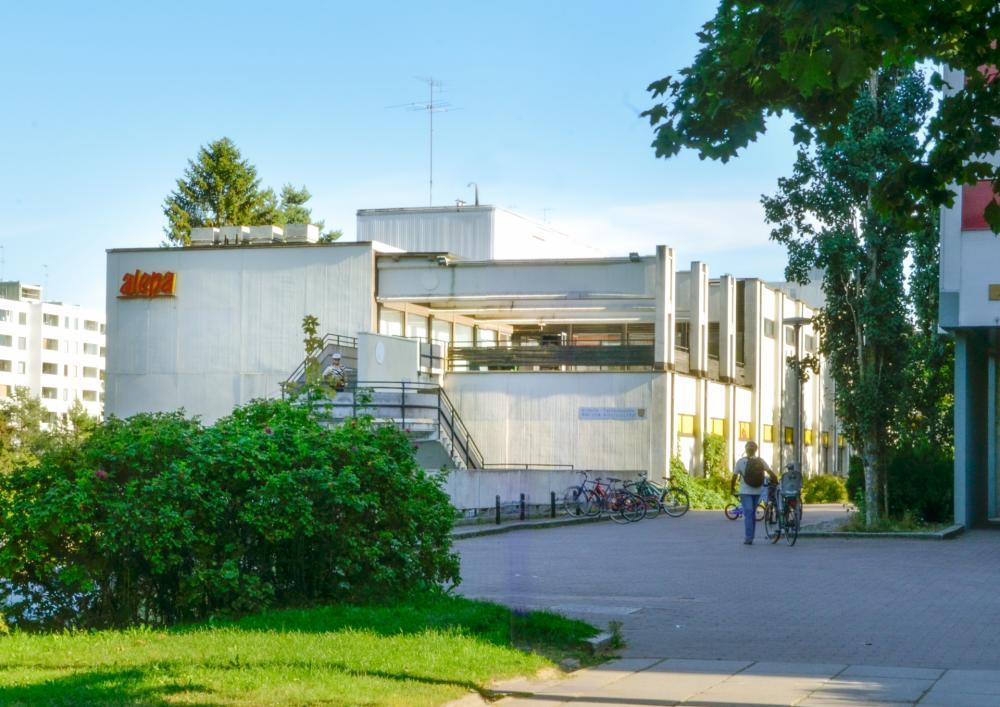 Soukan kirjasto kesällä