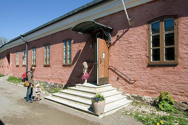 Suomenlinnan kirjasto kesällä 2009